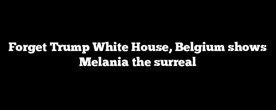 Forget Trump White House, Belgium shows Melania the surreal